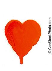 Graffiti grunge spray design heart