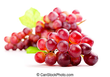 red grape, isolated on white background.