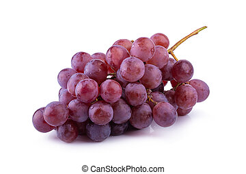Red Grapes isolated on a white background.
