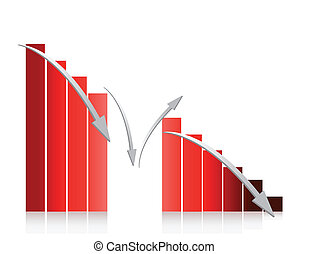 red graph falling illustration