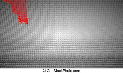 Red Graph moving down on chart as recession or financial crisis 3d animation