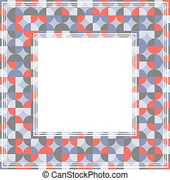 red gray abstract border