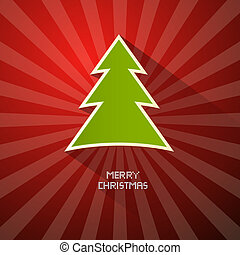 Red, Green Abstract Vector Merry Christmas Background