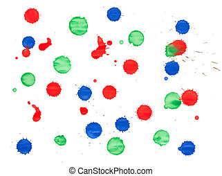 Red, green and blue blots