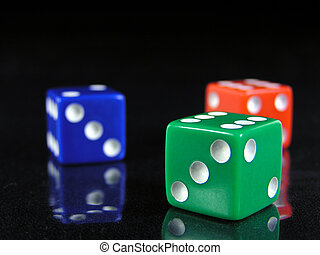 red, green, and blue dice 2