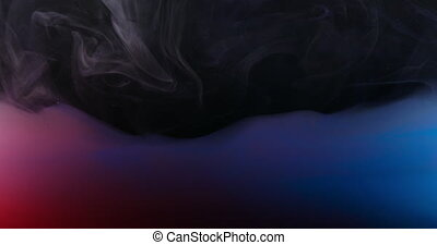 Red Green Blue RGB Paint in Water Creating Artistic Shapes -...