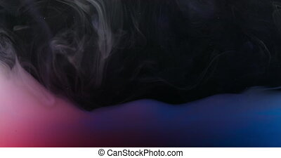 Red Green Blue RGB Paint in Water Creating Artistic Shapes
