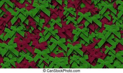 red & green bow-knot background,chrismas & holiday decoration.