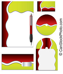 Red & Green Company vector set