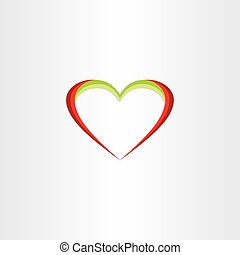 red green heart icon