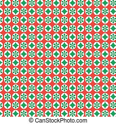 red green holiday pattern