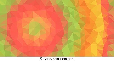 Red Green Orange Low Poly Vector Background