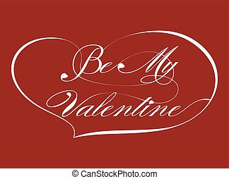 Red Greeting Card - Be My Valentine, vector