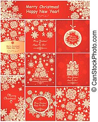 Red greetings for winter holiday