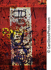 Red grunge abstract 1 - Red grunge composition of mixed...