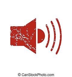 Red grunge add sound logo