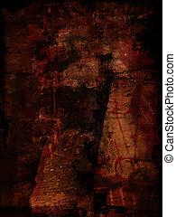 Red grunge background - Grunge background in blood tones