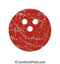 Red grunge bowling logo