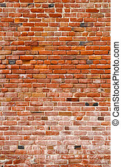 Red Grunge Brick Background - Brick Background