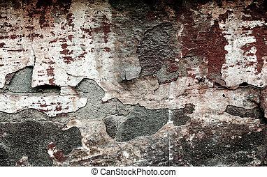 Red grunge brickwall