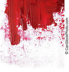 red grunge brush strokes oil paint