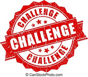 Red grunge challenge stamp