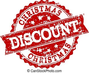 Red Grunge CHRISTMAS DISCOUNT Stamp Seal Watermark