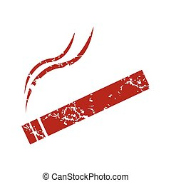 Red grunge cigarette logo