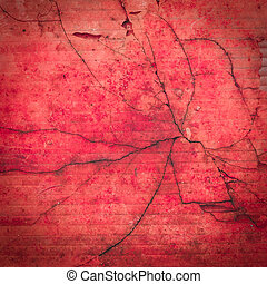 red grunge cracked background