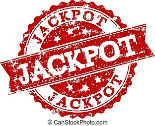 Red Grunge JACKPOT Stamp Seal Watermark