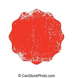 Red grunge rubber stamp