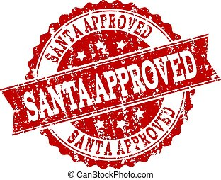 Red Grunge SANTA APPROVED Stamp Seal Watermark