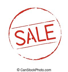 Red grunge stamp SALE