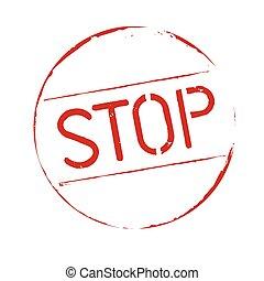 Red grunge stamp STOP