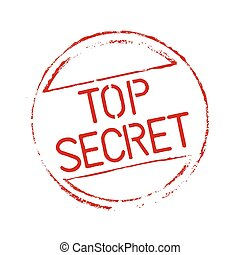 Red grunge stamp TOP SECRET