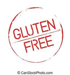 Red grunge stamps Gluten Free