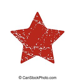 Red grunge star logo