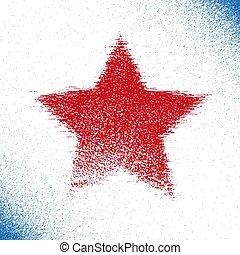 Red grunge Stars.