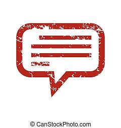 Red grunge talk logo