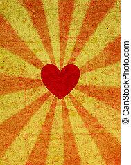 Red grunge valentine heart
