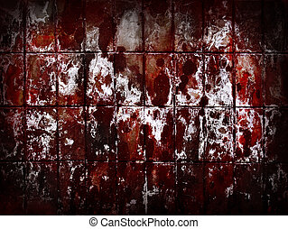 Red grunge wall abstract background.