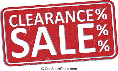 red grungy CLEARANCE SALE rubber stamp or sign