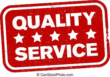 red grungy five star quality service rubber stamp print...