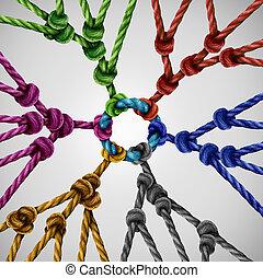 red, grupos, equipo