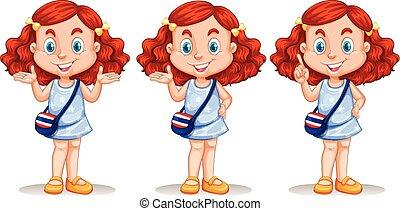 Redhead woman clipart