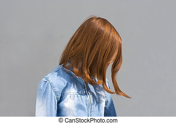 Red hair - Girl with red hair. (Face is hidden)