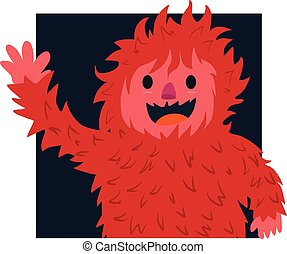 Red hair of yeti