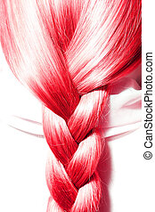 Red hair plaits