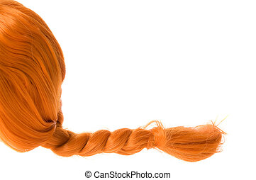 Red hair - Red braided hair as pippi longstocking