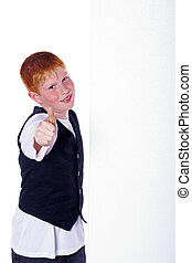 red-haired하게 된다, 소년, 쇼, 위로의엄지